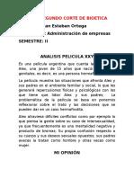 Analisis Pelicula XXY-BIOETICA