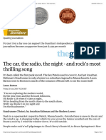 The car, the radio, the night - and rock's most thrilling song | Music | The Guardian