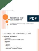 CR7 Making Good Arguments