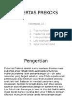 PUBERTAS PREKOKS ( PPT )