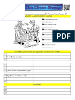Clothes - Circus Show (Worksheet 4)