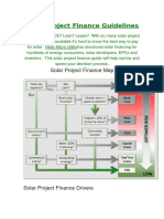 Solar Project Finance Guidelines