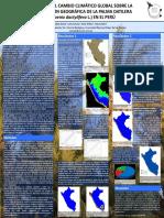 Impacto del CCG sobre la distribución de la Palma Datilera en el Perú