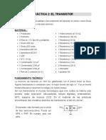 LABORATORIO N° 02 DE ELECTRONICA + TRANSISTOR