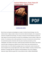 A Garland of Feminist Reflections Forty Years of Religious Exploration Rita m Gross