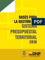 BASES PARA LA GESTIÓN PRESUPUESTAL