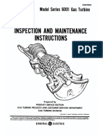 GE MS6001 Inspection and Maintenance Instructions