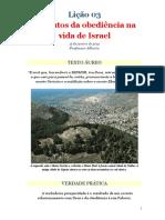 Lição 03 - Os Frutos Da Obediência Na Vida de Israel - 15.01.2012 - Professor Alberto