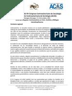 01-05-2016. Convocatoria Xv Congreso Acas, 2016 Managua, Nicaragua