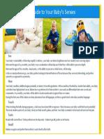 brochure for developmental psychology on infant senses 2016