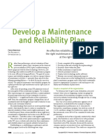 Develop a Maintenance and Reliability Plan