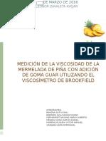 Práctica de La Mermelada Avance (reología)