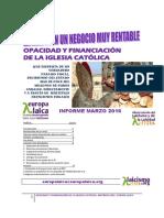 Opacidad y Financion  de la iglesia católica. Informe 2016