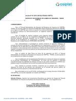 Resolución Lineamientos Quejas 2015