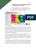 NP - LG lanza al mercado peruano su segunda generación de televisores Super UHD