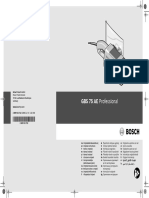 Manual Bosch GBS 75AE
