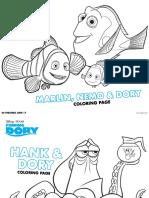 Finding Dory Activity Sheet