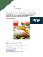Pollada Peruana, Receta