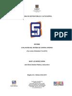 Informe de Control Interno 2013