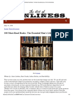 100 Must Read Books_ the Man's Essential Library _ the Art of Manliness