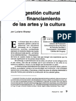 Alvarez, Luciano - La gestión cultural y el financiamiento de las artes y la cultura.pdf