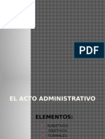 ELEMENTOS DE ACTO ADMINISTRATIVO