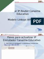 Actualizar IP Router