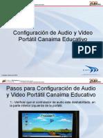 Configuración de Audio Portátil Canaima