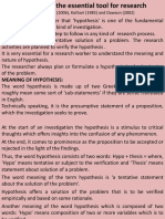 Characteristics of a Good Hypothesis