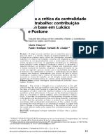 Duayer & Furtado_Lukács e Postone