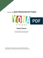 yona website project development project charter