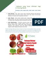 Pantangan Makanan Untuk Penderita Penyakit Kencing Nanah