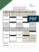 Cadet Class Schedule Worksheet