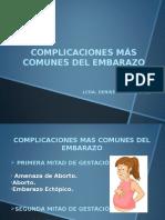 Complicaciones Mas Comunes Del Embarazo