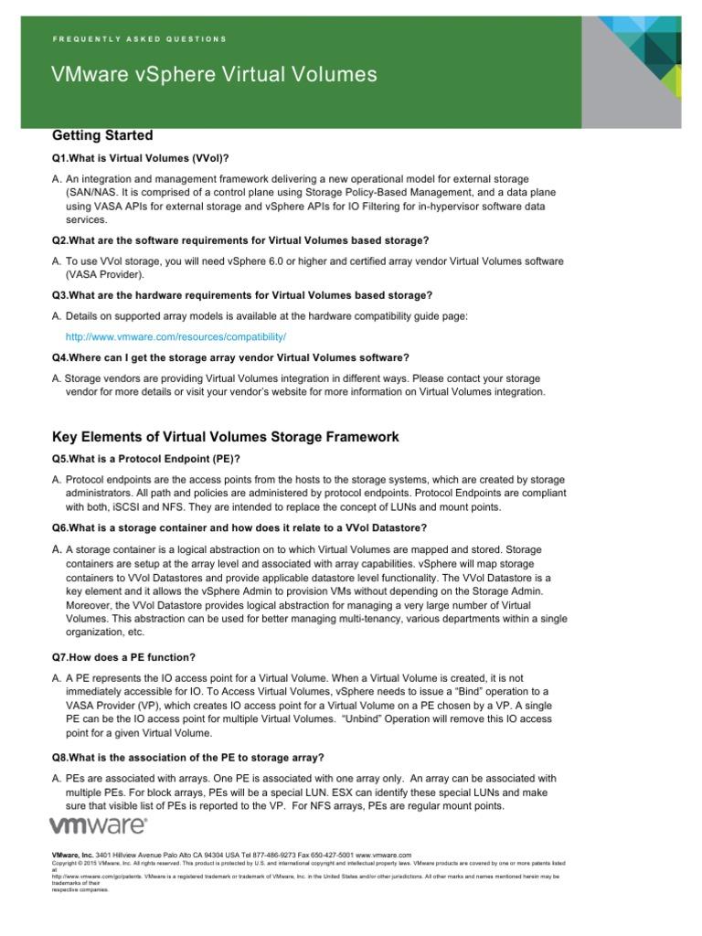 VMware Virtual Volumes FAQ | Computer File (23 views)