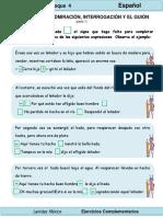 2do Grado - Español - Signos de Admiración, Interrogación y Guion
