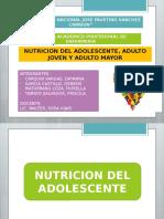 Nutricion en El Adulto Joven y Adulto Mayor
