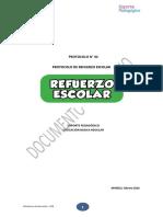 Protocolo Refuerzo Escolar 2016