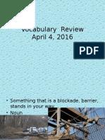 vocab review 4-4-16