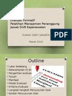 Evaluasi Pelatihan PJ Shif Keperawatan