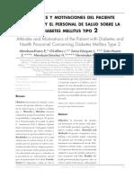 Actitudes y Motivacions Del Paciente Diabético y El Personal de Salud Sobre La DM II