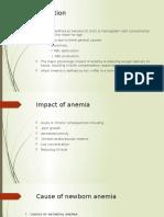 Anemia in Newborn Baby