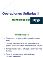 Operaciones Unitarias II hUMIDIFICACION