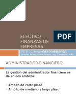 Adm Financiera Consideraciones Generales