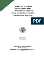 RPP VIII II.B 3 Penduduk Dalam Pembangunan Nasional MT