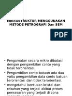 Mikrostruktur Menggunakan Metode Petrografi Dan Sem