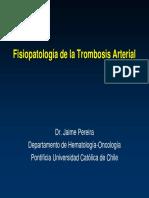 Fisiopatología Trombosis Arterial