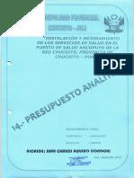 9m Presupuesto Analitico - Cronogramos