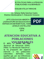Tema 2, Exposicion, Lineamentos Para La Atencion
