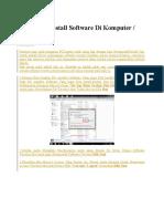 Cara Menginstall Software Di Komputer